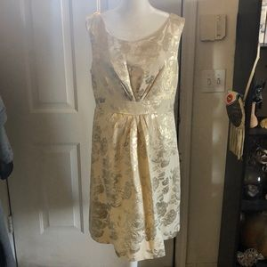 NWOT Kate Spade Metallic Jacquard Floral Dress